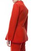 Orange Wool Blend Elegant Stand Collar Blazer