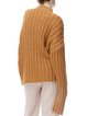Camel Solid Simple Stand Collar Wool Blend Sweater