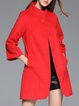Cotton-blend Simple Long Sleeve Pockets Coat