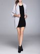 Pockets Elegant V Neck Solid Shift Wool Blend Coat