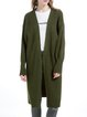Army Green H-line Balloon Sleeve Cardigan