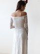 Ivory Off Shoulder Swing Elegant Lace Evening Dress