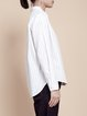 White Simple Stripes Cotton Blouse