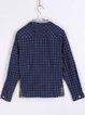 Shirt Collar Long Sleeve Boho Cotton-blend H-line Blouse