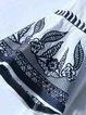 Pleated Bell Sleeve Floral-embroidered Vintage 3/4 Sleeve Mini Dress