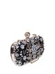 Black Rhinestone Beaded Evening Clutch