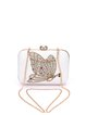 White Butterfly Beaded Evening Clutch
