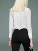 Silk Casual Long Sleeve Solid Blouse