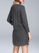 Printed Long Sleeve Stripes Casual Tunic