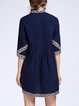 A-line Casual Embroidered Jacquard Mini Dress