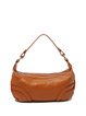 Solid Full-grain Cowhide Leather Casual Double Zippers Shoulder Bag