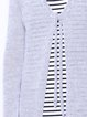 Bright Gray Simple Long Sleeve Knitted Solid H-line Cardigan