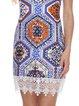 Boho Crocheted Sleeveless Tribal Holiday Dress