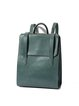 Solid Split Leather Fold-over Flat Top Simple Backpack