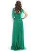 Green Ball Gown Sleeveless Ruched Elegant Silk Evening Dress