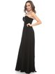 Black Ruched Sweetheart Solid Sleeveless Corset Gown Silk Evening Dress
