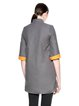 Gray 3/4 Sleeve Funnel Neck Shift Coat