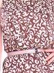 Multicolor Printed Sheath Sleeveless Slash Neck Midi Dress with Belt