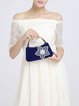 Solid Beaded Evening Snap Clutch