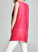 Multicolor Ribbed Shift Casual Solid Tunic