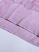 Pink Casual See-through Look Half Sleeved Top with Rhinestone