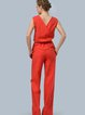 Work Sheath Sleeveless Keyhole Jumpsuit