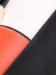 Casual Color-block Magnetic Zipper Top Handle