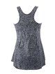 Gray Abstract Printed Racerback Scoop Neckline One-Piece