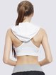White Breathable Hoodie Sports Bra