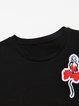 Appliqued Crew Neck Short Sleeve H-line T-Shirt