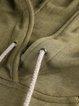 Army Green Drawcord Long Sleeve Tribal Printed Hoodie