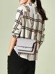 Viscose Checkered/Plaid Casual Long Sleeve Blouse
