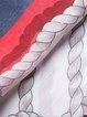Stripes 3/4 Sleeve Silk Casual Mini Dress