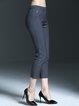 Paneled Casual Solid Straight Leg Pants