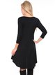 Black Beaded Rayon V Neck High Low Casual Tunic