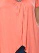 Coral Short Sleeve Embellished Plus Size Tunic