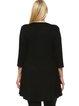 Black A-line V Neck Embellished Plus Size Tunic