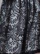 Black Guipure Lace Crew Neck A-line Casual Mini Dress