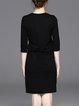 Half Sleeve Pockets Sports H-line Mini Dress