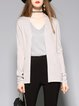 H-line Plain Long Sleeve Simple Cardigan