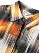 Simple Ombre/Tie-Dye Short Sleeve Printed Shirt Collar Mini Dress