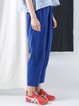 Tencel Solid Casual Track Pants