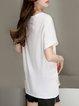 Short Sleeve Casual Cotton-blend Short Sleeved Top