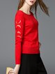 Solid Casual Long Sleeve Sweater
