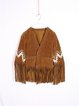 Fringed Boho Tribal Half Sleeve Coat