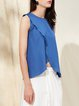 Sleeveless Solid Simple Lyocell Tanks And Cami