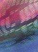 Turq-Purple Casual V Neck A-line Half Sleeve Chiffon Midi Dress