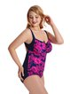 Fuchsia Printed Floral One-Pieces