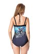 Blue Wireless Printed One-Pieces