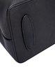 Black Split Leather Zipper Shoulder Bag